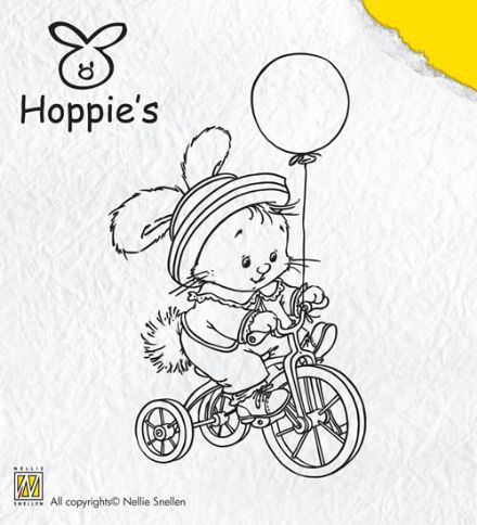 HOP 003 HOPPIE'S ~ BIKING ~ Nellie Snellen Clear stamp